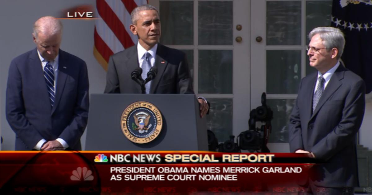 barack obama merrick garland-live