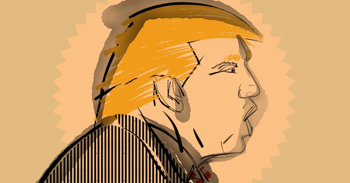 donald trump drawing