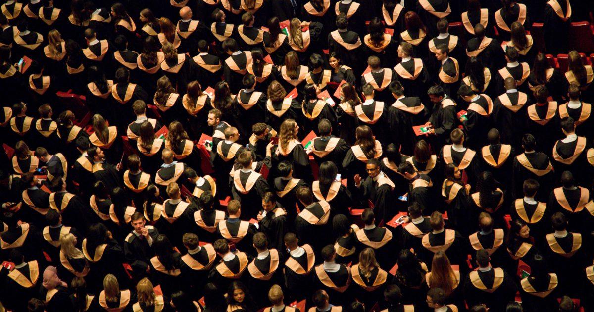 graduates overhead