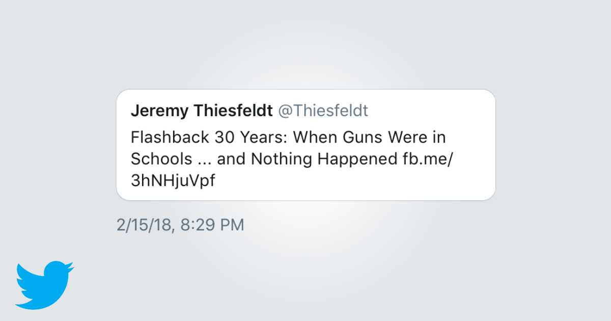 jeremy thiesfeldt gun tweet