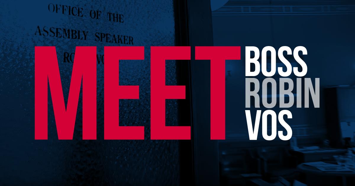 meet boss robin vos over door opening into office