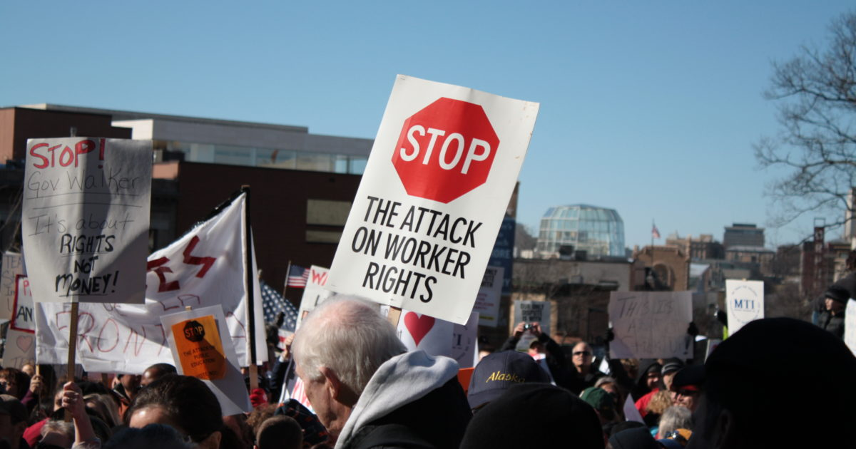 stop the attack on worker rights