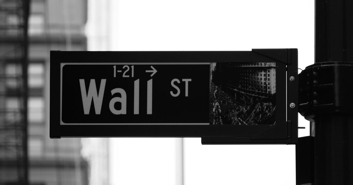 wall street sign closeup