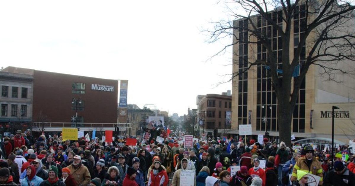wisconsin capitol protest